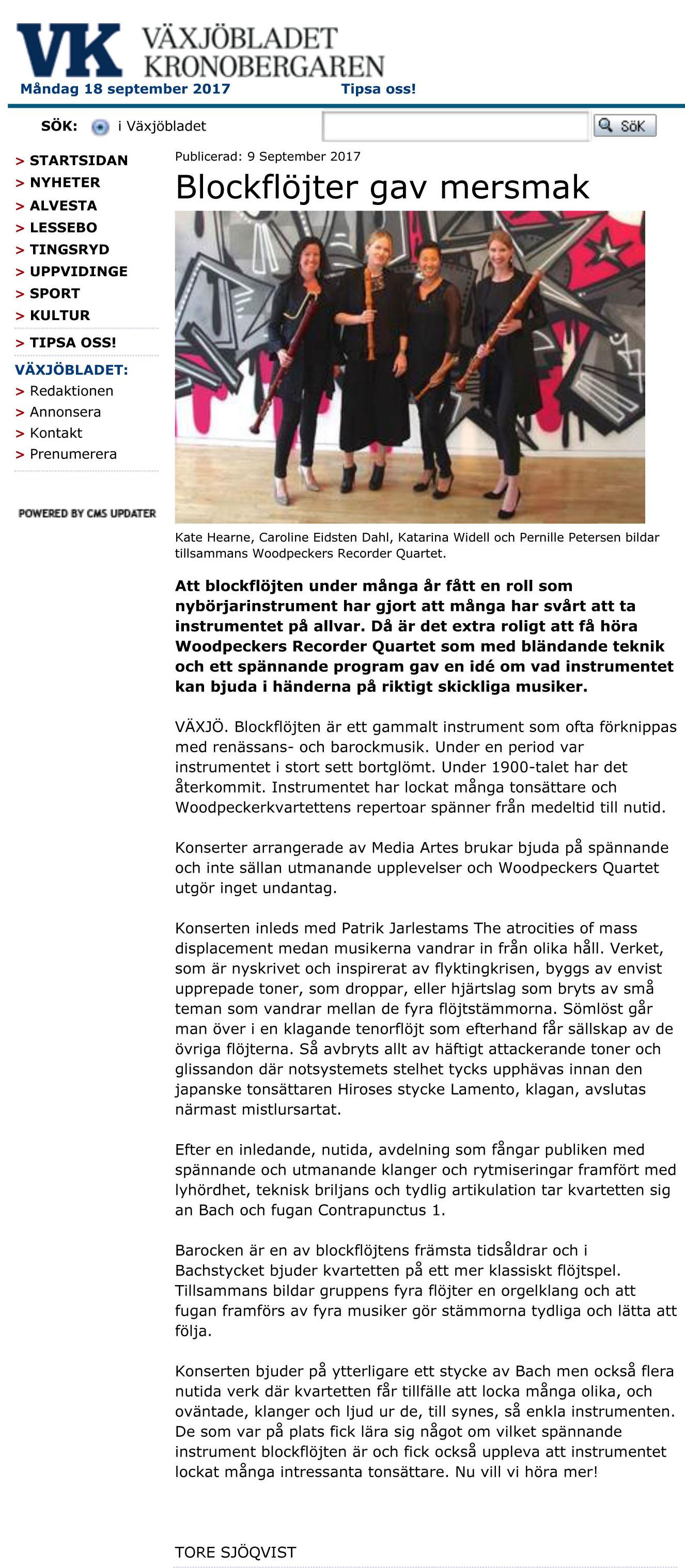 Växjöbladet Kronobergaren